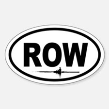 Row Scull Oval Decal