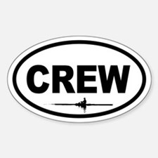 Crew Scull Oval Decal