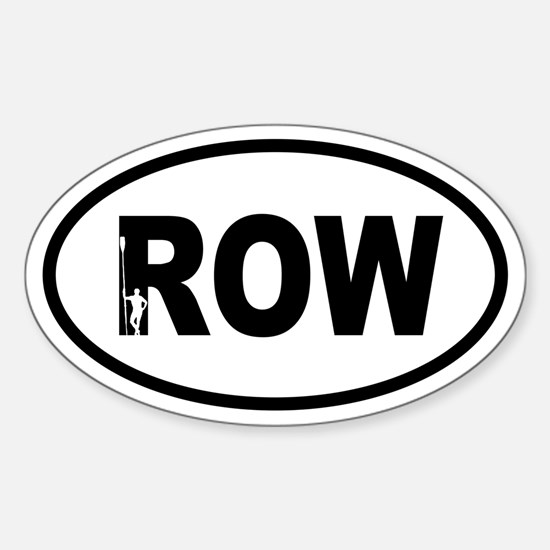Row Oarsman Oval Decal