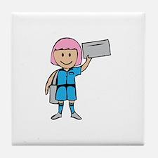 Mail Lady Tile Coaster