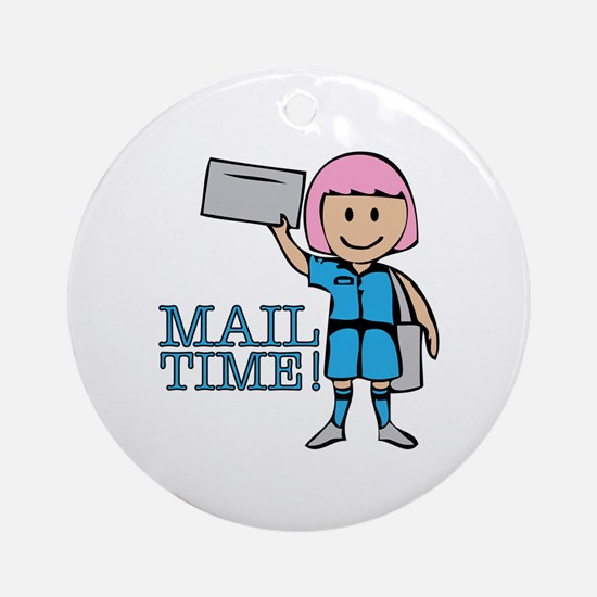 Mail Time Ornament (Round)