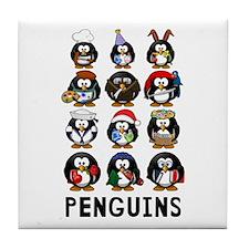 Penguins Tile Coaster