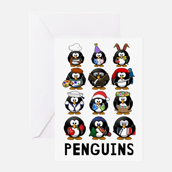 Penguins Greeting Cards