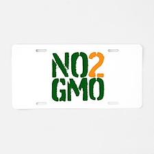 No 2 GMO Aluminum License Plate
