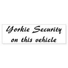 Yorkie Security Bumper Car Sticker