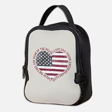 I Love USA Neoprene Lunch Bag