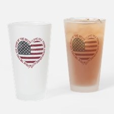 I Love USA Drinking Glass