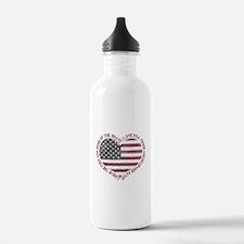 I Love USA Water Bottle