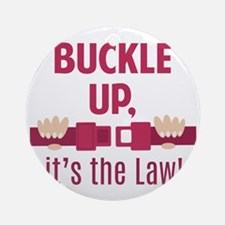 Buckle Up Ornament (Round)