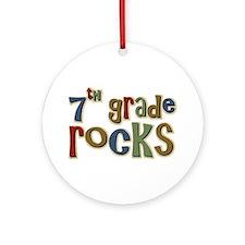 7th Grade Rocks Seventh School Ornament (Round)