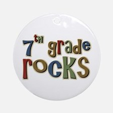 7th Grade Rocks Seventh School Ornament (Round)