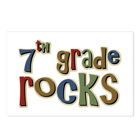 7th Grade Rocks Seventh School Postcards (Package