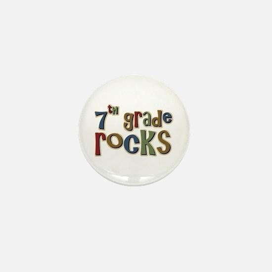 7th Grade Rocks Seventh School Mini Button