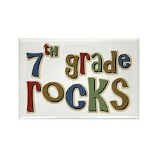 7th Grade Rocks Seventh School Rectangle Magnet