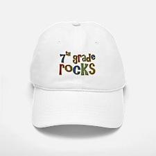 7th Grade Rocks Seventh School Baseball Baseball Cap