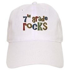 7th Grade Rocks Seventh School Baseball Cap