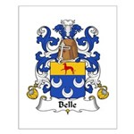 Belle Family Crest Small Poster