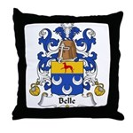 Belle Family Crest Throw Pillow