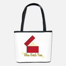She Said Yes Bucket Bag