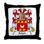 Belisle Family Crest Throw Pillow