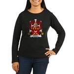 Belisle Family Crest Women's Long Sleeve Dark T-Sh