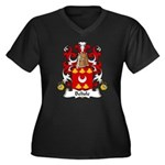 Belisle Family Crest Women's Plus Size V-Neck Dark