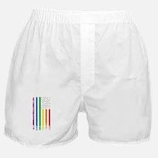 Rainbow American Flag Boxer Shorts