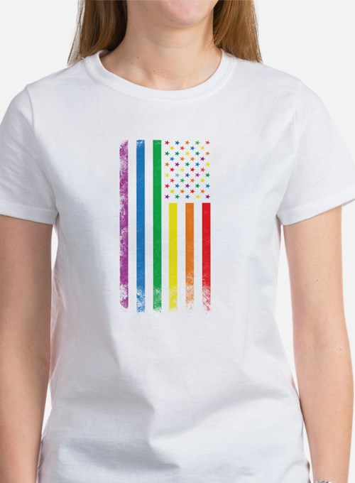 Rainbow American Flag T-Shirt