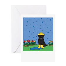 Black Lab Spring Greeting Card