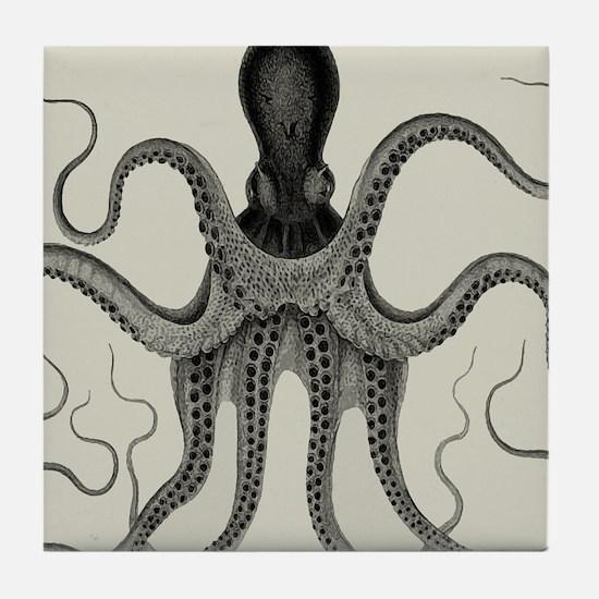 Vintage Octopus Design Tile Coaster