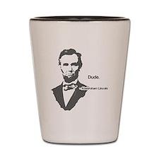 Abebroham Lincoln Shot Glass