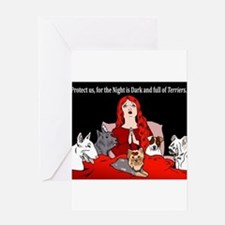Night of Terriers Greeting Cards