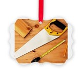 Lumber cutting Picture Frame Ornaments