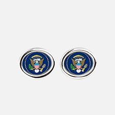 Presidential Seal Oval Cufflinks