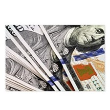 Unique Hundred dollar bill Postcards (Package of 8)