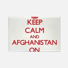 Keep calm and Afghanistan ON Magnets