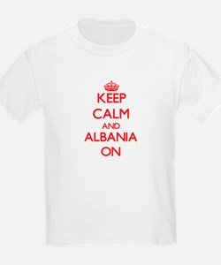 Keep calm and Albania ON T-Shirt