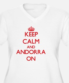 Keep calm and Andorra ON Plus Size T-Shirt