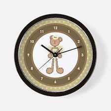 Angel Bear w/Halo Wall Clock