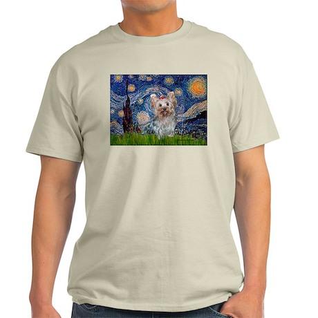 Starry Night Yorkie (T) Light T-Shirt