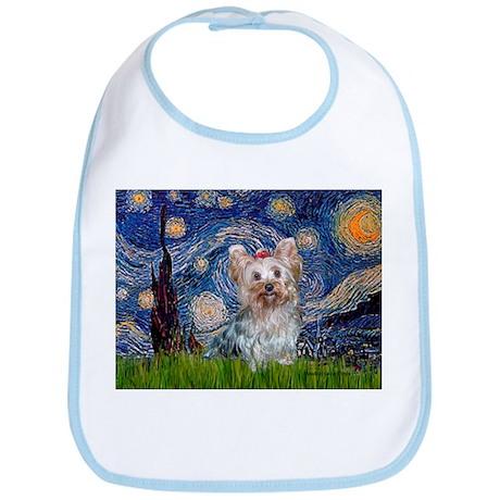 Starry Night Yorkie (T) Bib
