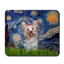 Starry Night Yorkie (T) Mousepad