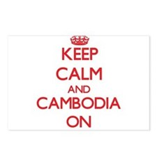 Keep calm and Cambodia ON Postcards (Package of 8)