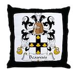 Beauvais Family Crest  Throw Pillow