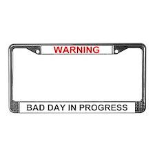 Bad Day License Plate Frame