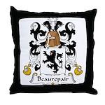 Beaurepair Family Crest Throw Pillow
