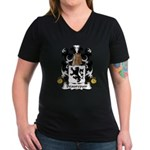 Beaurepair Family Crest Women's V-Neck Dark T-Shir