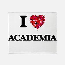I Love Academia Throw Blanket