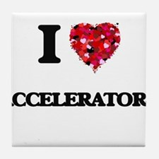I Love Accelerators Tile Coaster