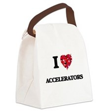 I Love Accelerators Canvas Lunch Bag